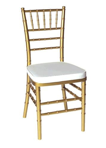 Where to rent Gold Chivari Chair w  cushion in The Greater Philadelphia area, New Britain PA, Doylestown PA, Lansdale PA, New Hope PA