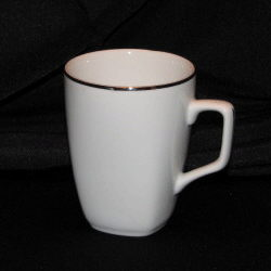 Where to find White Mug w  Silver Rim in New Britain