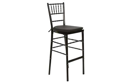 Where to rent Black Chivari Bar Stool w  cushion in The Greater Philadelphia area, New Britain PA, Doylestown PA, Lansdale PA, New Hope PA