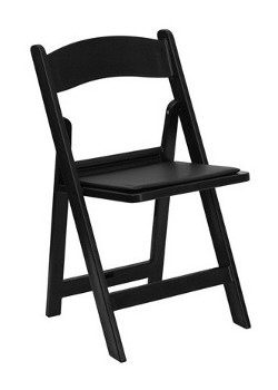 Where to rent Black Resin Chair w  Pad in The Greater Philadelphia area, New Britain PA, Doylestown PA, Lansdale PA, New Hope PA