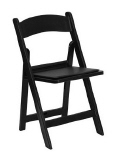 Rental store for Black Resin Chair w  Pad in New Britain PA