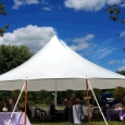 Rental store for 45 x44  Aurora Sheer Top Pole Tent in New Britain PA