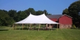Rental store for 45 x64  Aurora Sheer Top Pole Tent in New Britain PA