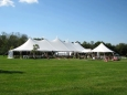 Rental store for 45 x124  Aurora Sheer Top Pole Tent in New Britain PA