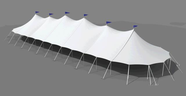 Where to rent 45 x144  Aurora Sheer Top Pole Tent in The Greater Philadelphia area, New Britain PA, Doylestown PA, Lansdale PA, New Hope PA