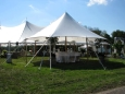 Rental store for 32 x31  Aurora Sheer Top Pole Tent in New Britain PA