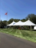 Rental store for 32 x71  Aurora Sheer Top Pole Tent in New Britain PA