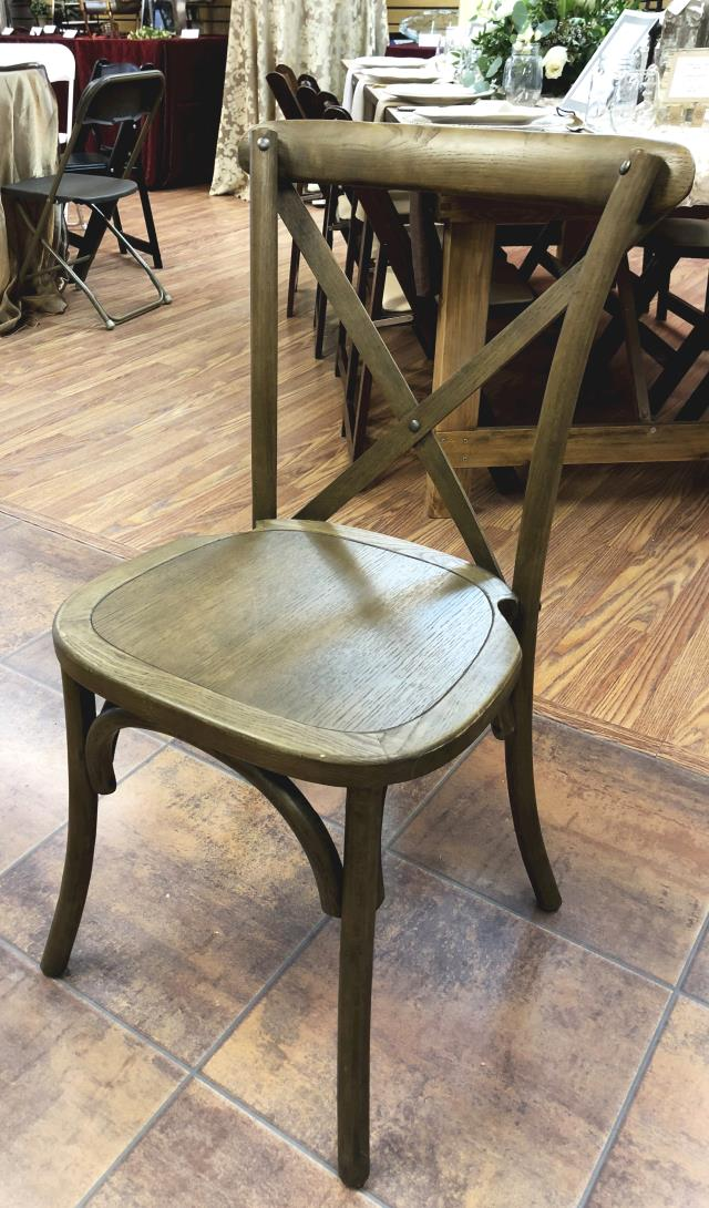 Where to find Rustic Cross Back Chair in New Britain