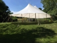 Rental store for 59 x39  Aurora Sheer Top Pole Tent in New Britain PA