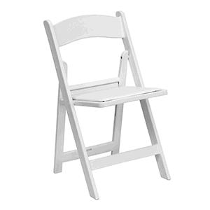 Where to find White Resin Chair w  Pad in New Britain