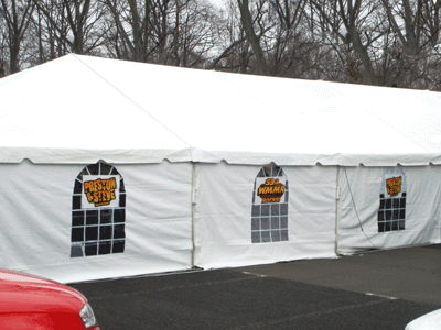 Where to find 40 x90  Future Trac Frame Tent in New Britain